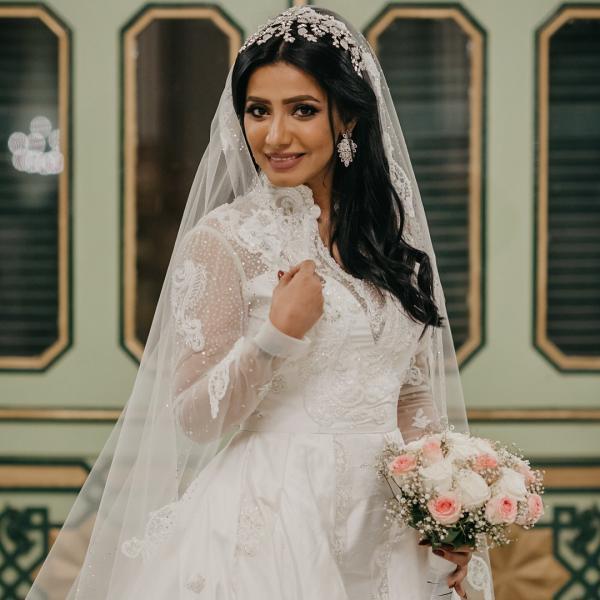 b6ccd64e01cab مجلة زهرة السوسن - صور حفل زفاف الفنانة السعودية مروة سالم ومحمد سلامة