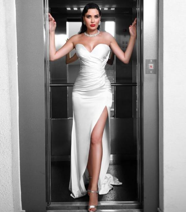 5a69b75738863 إطلالة سيرين عبد النور غير موفّقة بتاتاً في حفل زفاف، هل ظنّت نفسها أنّها  هي العروس؟